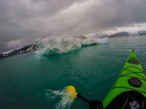 kayaking at svartisen glacier
