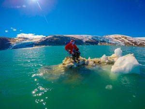 santa claus in the arctic