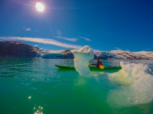 guided tours at svartisen glacier with kayaks