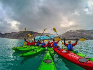 guided kayak tours svartisen glacier