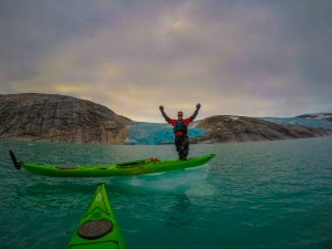 incredible adventure at svartisen glacier with kayaks