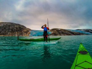 great season at svartisen with kayaks