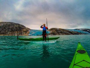 great season at svartisen with kayaks