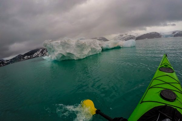 kayaking at svartisen glacier
