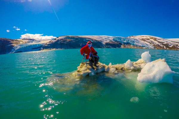 santa claus in the arctic