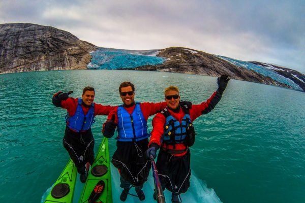 incredible adventure at svartisen glacier with kayaks