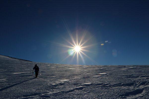 ski ekspedisjon på svartisen