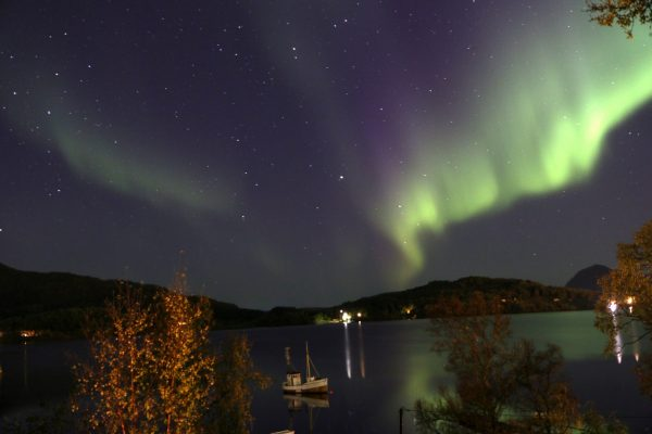 kayaking under ther northern light